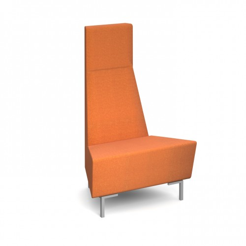 Encore Modular convex 45 degree single seater bench with metal legs - made to order