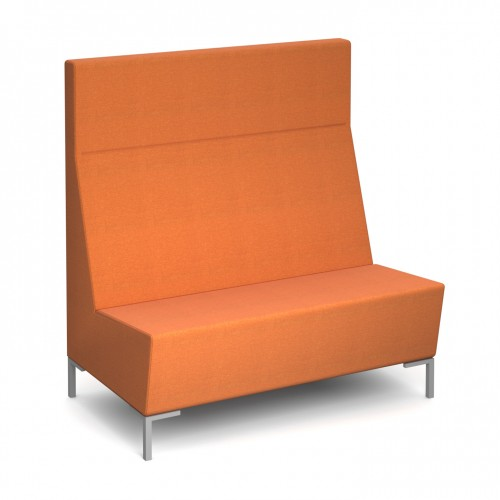 Encore Modular straight double seater bench with metal legs - made to order
