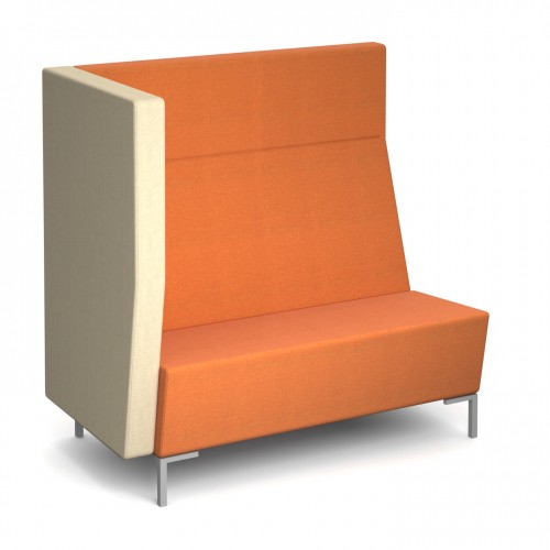 Encore Modular straight double seater bench with right arm and metal legs - made to order - Band B