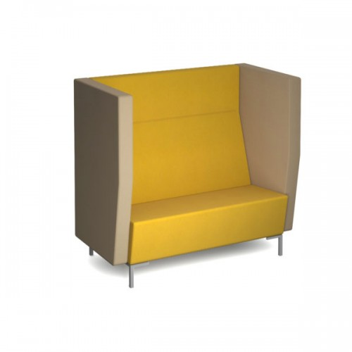 Encore high back private chair 2 seater 1200mm wide with metal legs - made to order