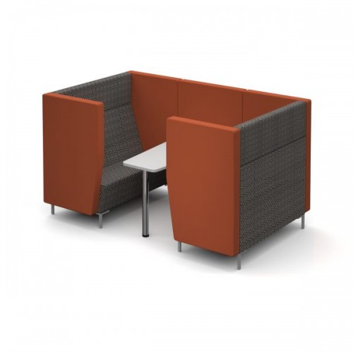 Encore Pod 4 seater with table 2280mm wide with metal legs - made to order