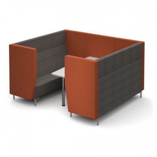 Encore Pod 6 seater with table 2280mm wide with metal legs - made to order - Band B
