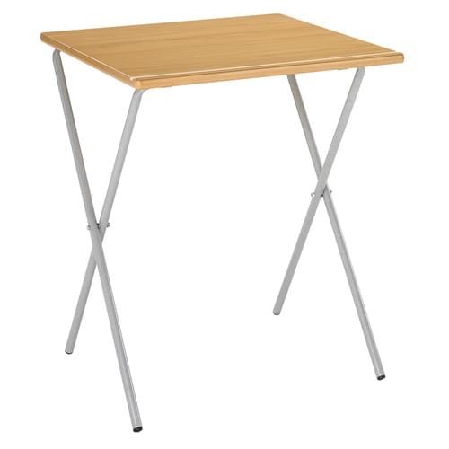 Metalliform Four Legged Folding Exam Table with Pen Groove - 600 x 600mm