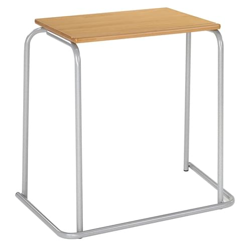 Metalliform Stacking Exam Table with Pen Groove - 600 x 500mm
