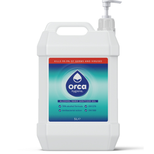 70% Alcohol Hand Sanitiser Gel 5000ml Jerry Can with Pump Top