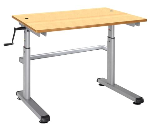 Metalliform Height Adjustable HA200 Classroom Table 700 x 600mm - Beech