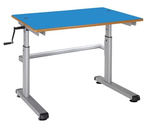 Metalliform Height Adjustable HA200 Classroom Table 1200 x 600mm - Blue