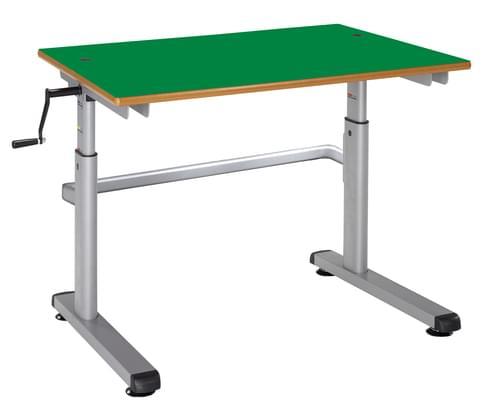 Metalliform Height Adjustable HA200 Classroom Table 700 x 600mm - Green