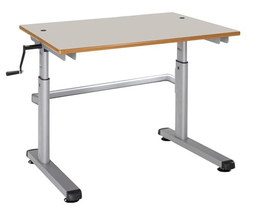 Metalliform Height Adjustable HA200 Classroom Table 1200 x 600mm - Light Grey