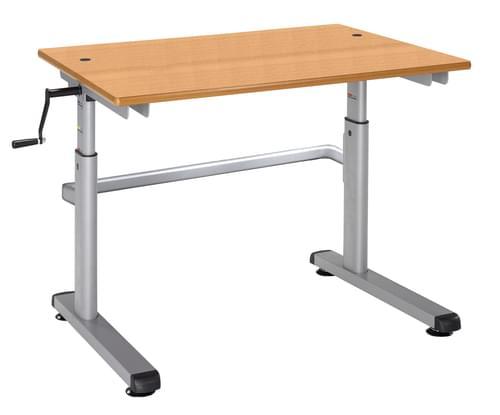 Metalliform Height Adjustable HA200 Classroom Table 700 x 600mm - Oak