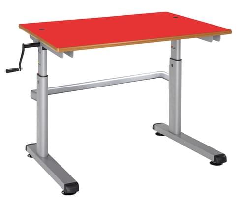 Metalliform Height Adjustable HA200 Classroom Table 1200 x 600mm - Red