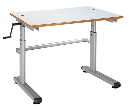 Metalliform Height Adjustable HA200 Classroom Table 700 x 600mm - White