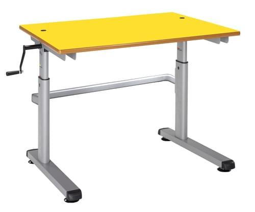 Metalliform Height Adjustable HA200 Classroom Table 1200 x 600mm - Yellow