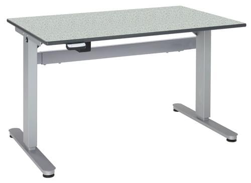 Metalliform Motorised Height Adjustable HA800 Wheelchair Accessible Classroom Table 1500 x 750mm - Grey Speckle