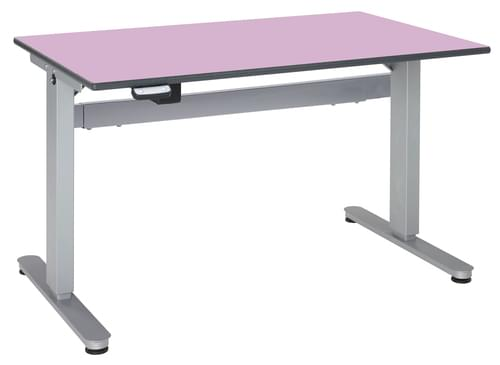 Metalliform Motorised Height Adjustable HA800 Wheelchair Accessible Classroom Table 1500 x 750mm - Lilac