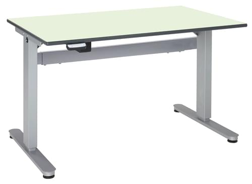 Metalliform Motorised Height Adjustable HA800 Wheelchair Accessible Classroom Table 1500 x 750mm - Soft Lime