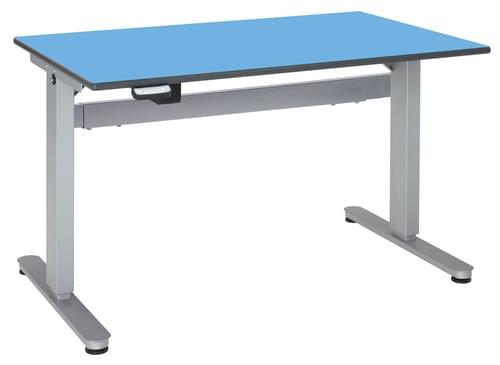 Metalliform Motorised Height Adjustable HA800 Wheelchair Accessible Classroom Table 1200 x 750mm - Summer Blue