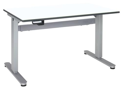 Metalliform Motorised Height Adjustable HA800 Wheelchair Accessible Classroom Table 1200 x 750mm - White