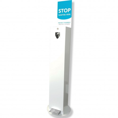 Foot Operated Hand Sanitiser Dispenser Station for use with 5 Litre Pump Bottles