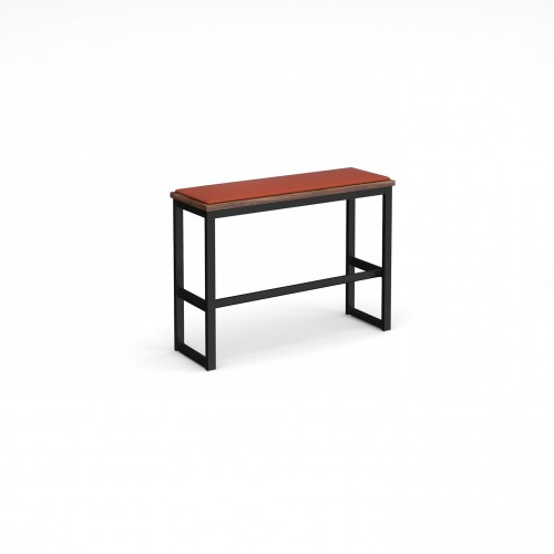 Otto Urban Poseur benching solution high bench 1050mm wide with upholstered seat pad - made to order