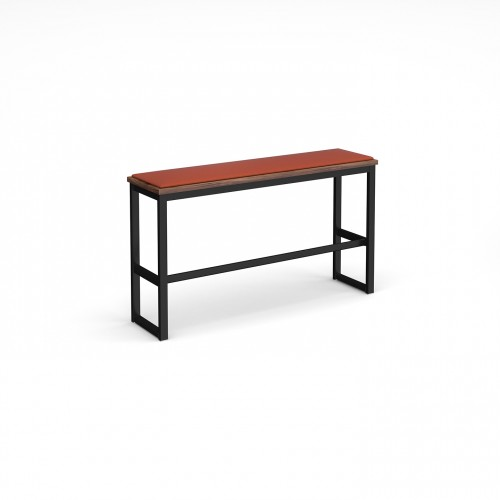 Otto Urban Poseur benching solution high bench 1350mm wide with upholstered seat pad - made to order