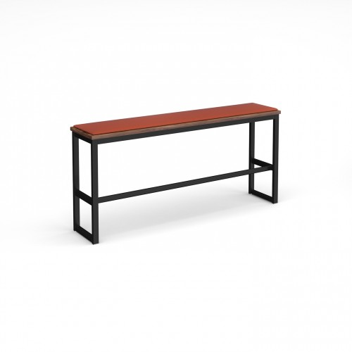 Otto Poseur benching solution high bench 1650mm wide with upholstered seat pad - made to order