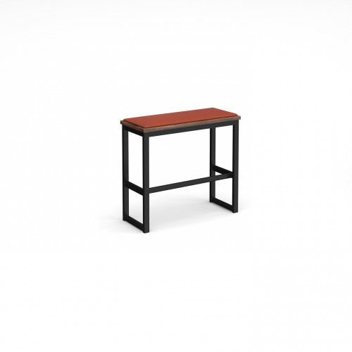 Otto Urban Poseur benching solution high bench 850mm wide with upholstered seat pad - made to order