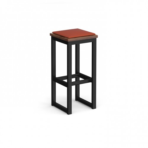 Otto Poseur benching solution high stool 350mm wide with upholstered seat pad - made to order