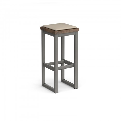 Otto Urban Poseur benching solution high stool 350mm wide with upholstered seat pad - made to order