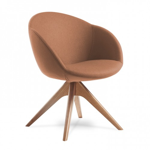 Joss single seater armchair with pyramid oak legs - made to order
