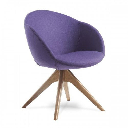 Joss single seater armchair with pyramid oak legs - made to order - Band C