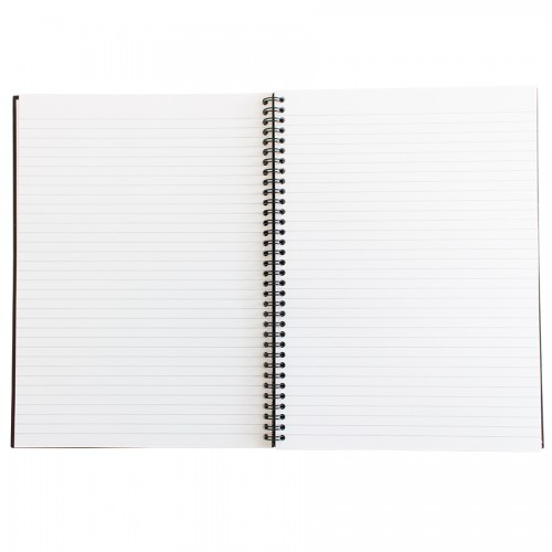 Q-Connect Wirebound A4 Hardback Notebook 160 Pages Black KF03727 Pack of 3