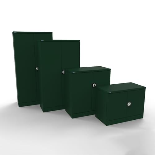 Silverline Kontrax 2 Door Cupboard with 4 Shelves - Pre-Assembled - British Racing Green