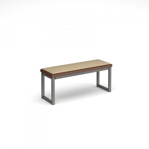 Otto benching solution low bench 1050mm wide with upholstered seat pad - made to order