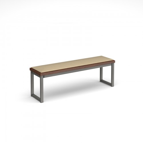 Otto benching solution low bench 1350mm wide with upholstered seat pad - made to order