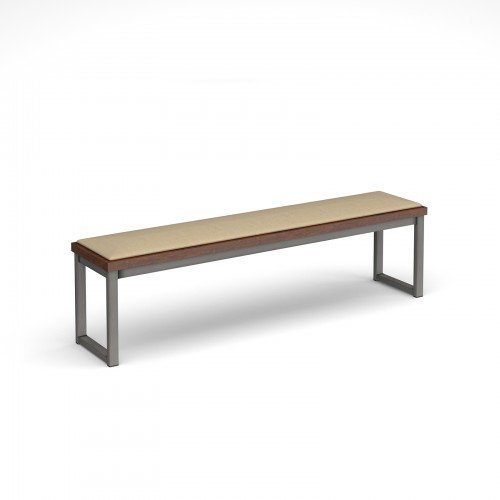 Otto benching solution low bench 1650mm wide with upholstered seat pad - made to order