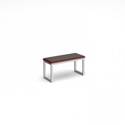 Otto benching solution low bench 850mm wide with upholstered seat pad - made to order