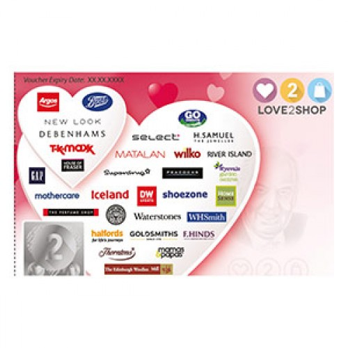 £10 Love 2 Shop Voucher - Accepted at 120 Leading retailers!