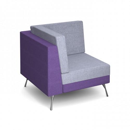 Lyric modular soft seating corner unit with metal legs - made to order