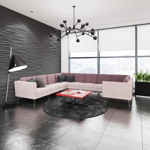 Lyric modular soft seating corner unit with metal legs - made to order - Band C
