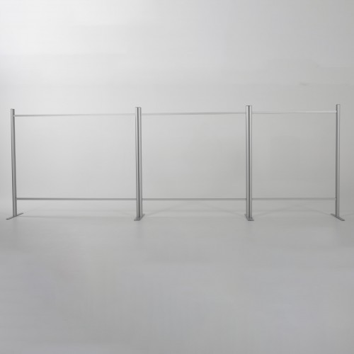 Modular PPE Hygiene Screen with Document Transfer Slot - 1200 x 1200mm