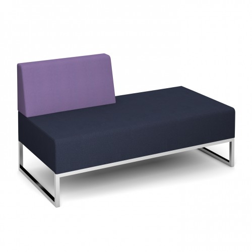 Nera modular soft seating double bench with right hand back fully upholstered - made to order