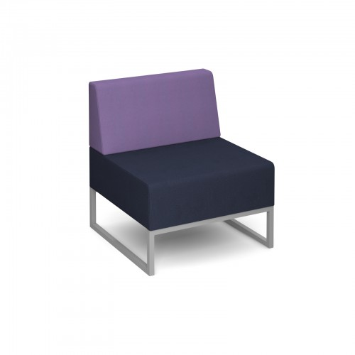 Nera modular soft seating single bench with back fully upholstered - made to order