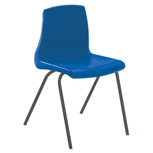 Metalliform NP Traditional Stackable Classroom Chairs - 310mm High 4-6 Years - Blue with Black Legs