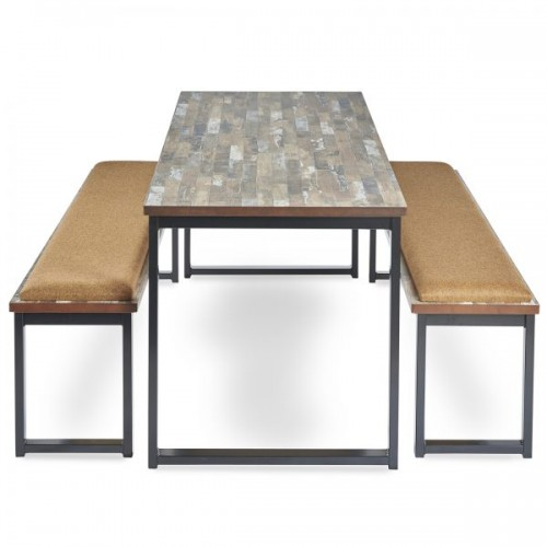 Otto benching solution dining table 2400mm wide with 25mm MDF top - made to order