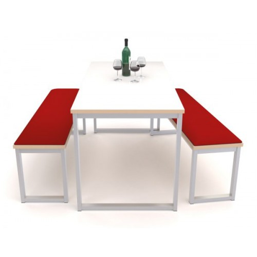 Otto benching solution dining table 1500mm wide with 25mm MDF top - made to order