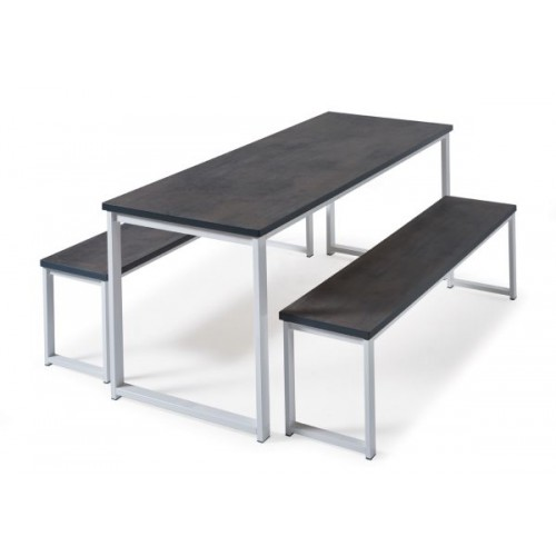 Otto benching solution dining table 1800mm wide with 25mm MDF top - made to order