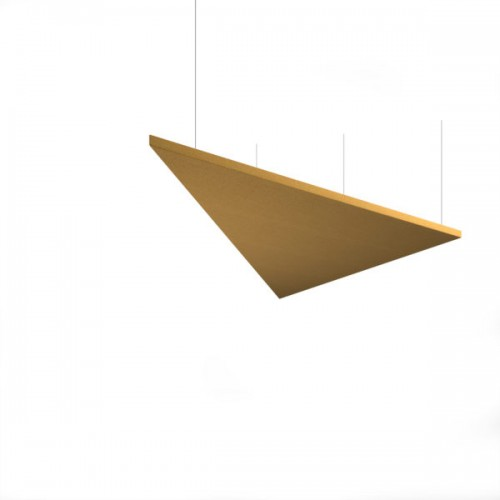 Piano acoustic 25mm thick large triangular ceiling tile 1190mm x 1190mm - made to order