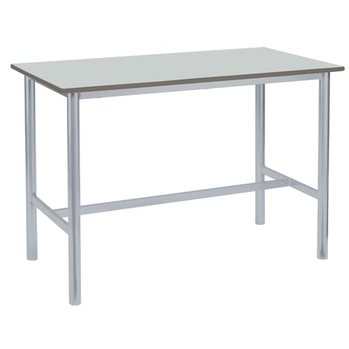Metalliform Premium Round Frame Welded School Craft and Science Table - 1500 x 750mm - Alisa 760mm High