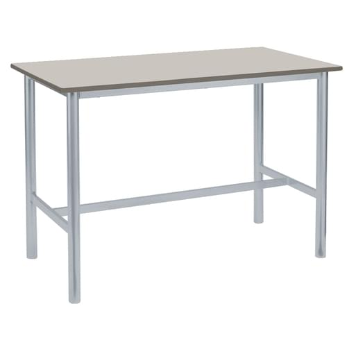 Metalliform Premium Round Frame Welded School Craft and Science Table - 1200 x 600mm - Light Grey 800mm High